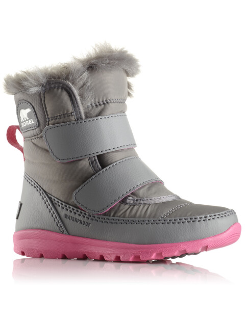 Sorel Whitney Short Hook-and-Loop Boots Children grey/pink
